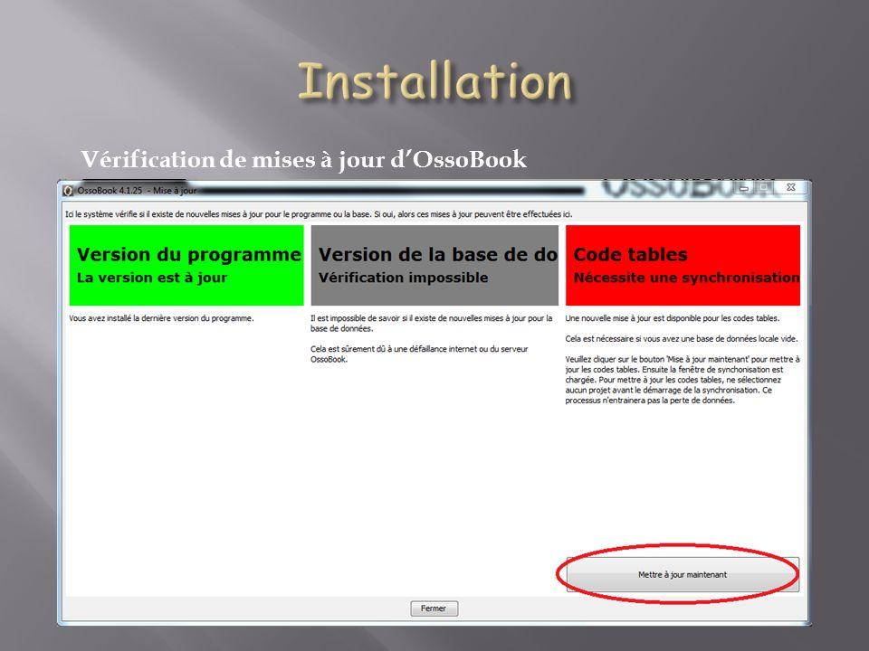 Vérification de mises à jour dOssoBook