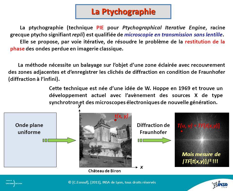 La Ptychographie La ptychographie (technique PIE pour Ptychographical Iterative Engine, racine grecque ptycho signifiant repli) est qualifiée de micro