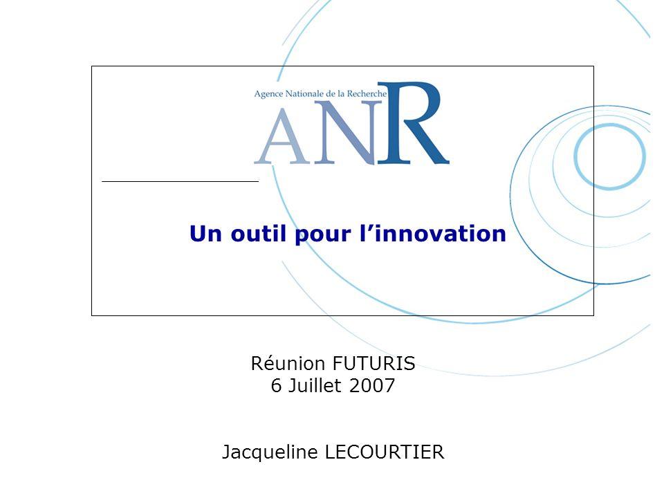 Un outil pour linnovation Réunion FUTURIS 6 Juillet 2007 Jacqueline LECOURTIER