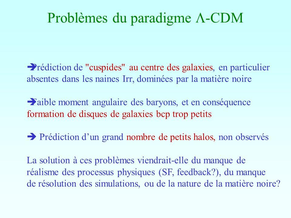 Problèmes du paradigme -CDM Prédiction de