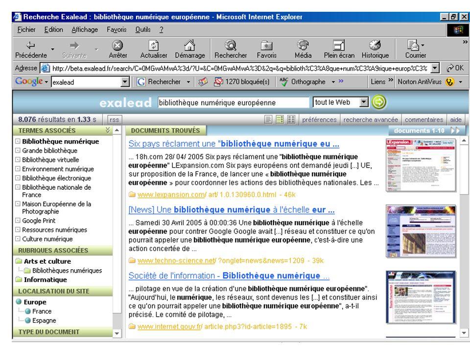 « Un nouveau paradigme ? » / Dominique Lahary, in: Bibliothèques numériques : où en sommes-nous? / Journée détude de lABF, BnF, 10 octobre 2005