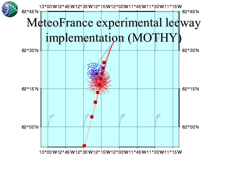 Norwegian Meteorological Institute MeteoFrance experimental leeway implementation (MOTHY)
