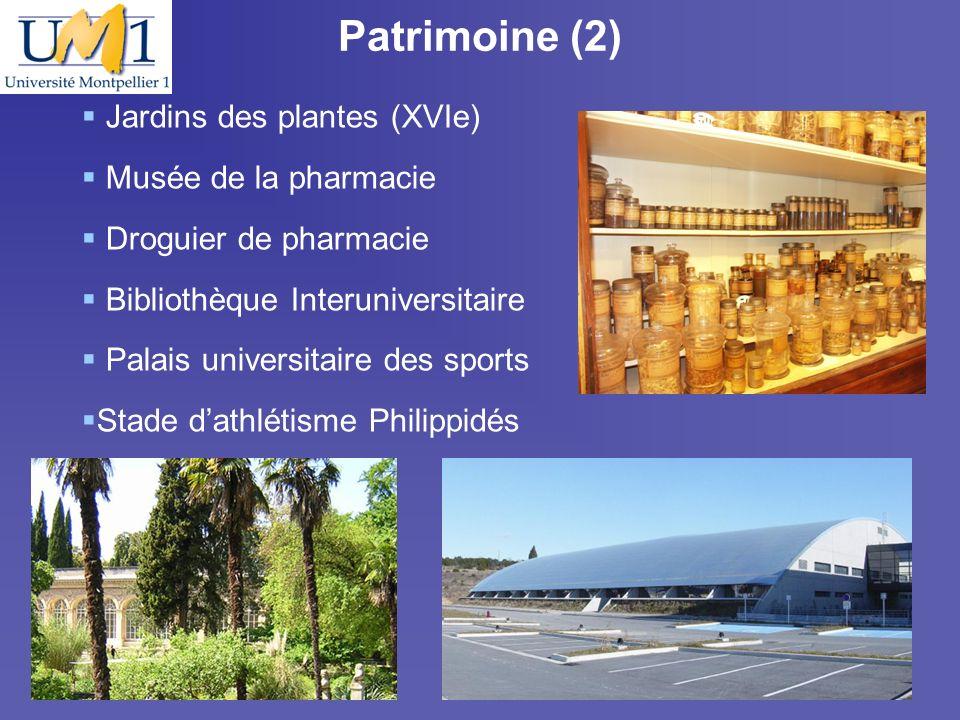19/10/097 Patrimoine (2) Jardins des plantes (XVIe) Musée de la pharmacie Droguier de pharmacie Bibliothèque Interuniversitaire Palais universitaire d