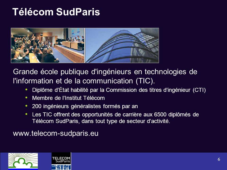 6 Télécom SudParis Grande école publique d'ingénieurs en technologies de l'information et de la communication (TIC). Diplôme dÉtat habilité par la Com