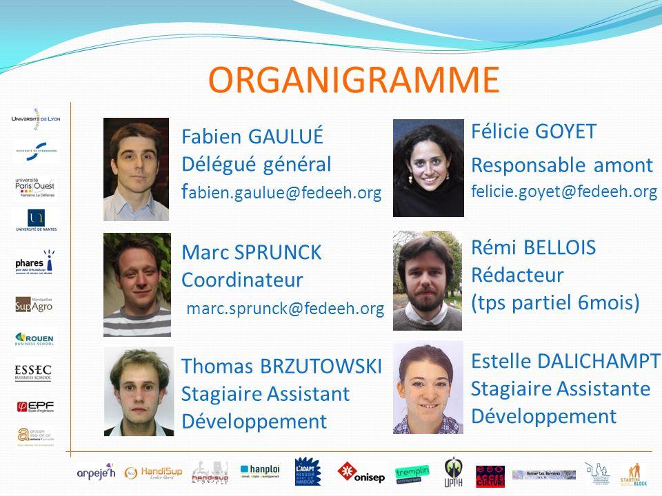 Fabien GAULUÉ Délégué général f abien.gaulue@fedeeh.org Marc SPRUNCK Coordinateur marc.sprunck@fedeeh.org Thomas BRZUTOWSKI Stagiaire Assistant Dévelo
