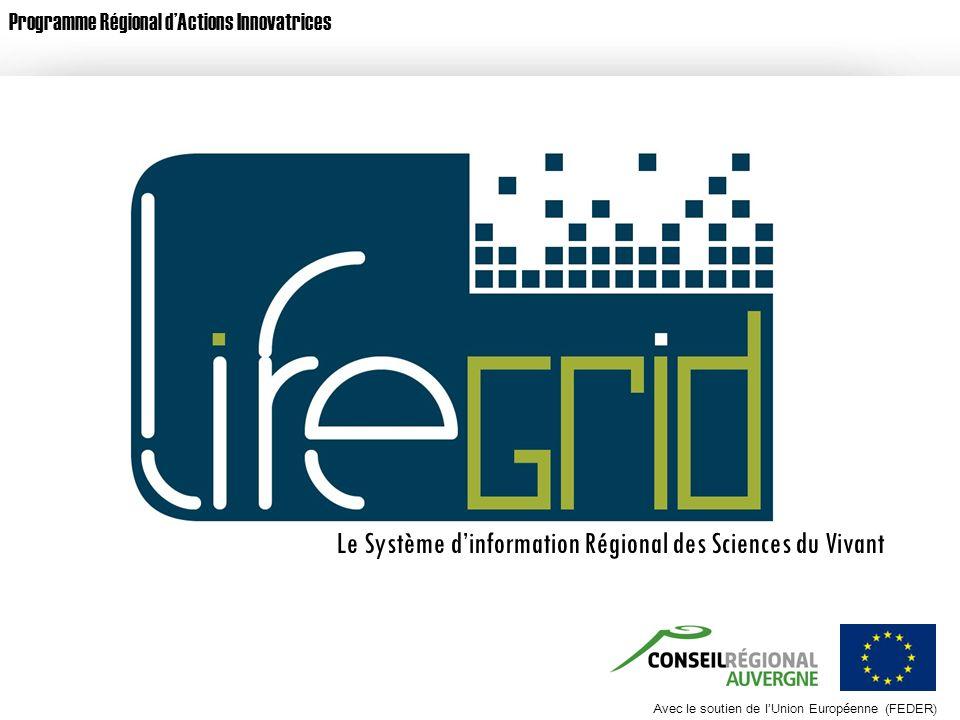 Avec le soutien de lUnion Européenne (FEDER) Programme Régional dActions Innovatrices Avec le soutien de lUnion Européenne (FEDER) Le Système dinforma
