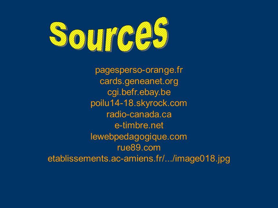 pagesperso-orange.fr cards.geneanet.org cgi.befr.ebay.be poilu14-18.skyrock.com radio-canada.ca e-timbre.net lewebpedagogique.com rue89.com etablissem