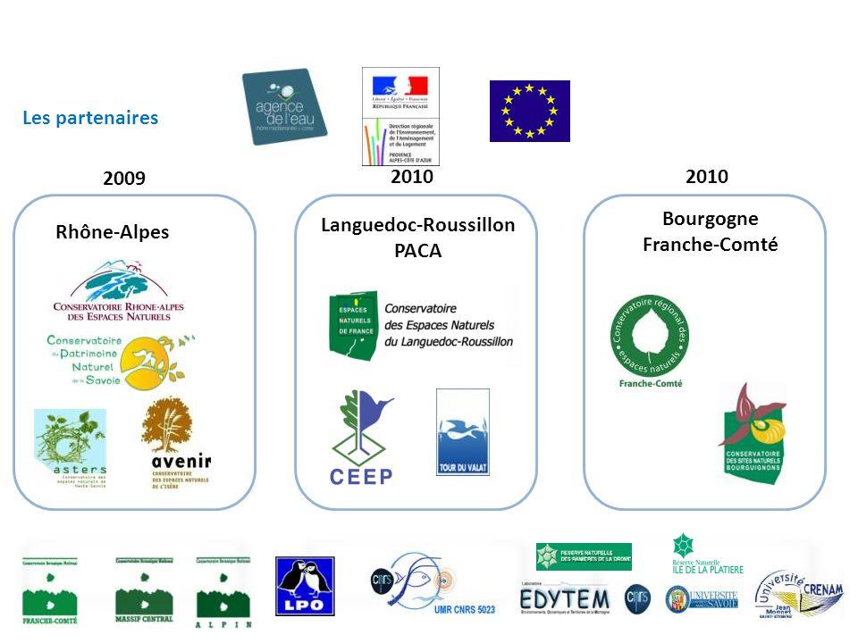 Les partenaires Rhône-Alpes Languedoc-Roussillon PACA Bourgogne Franche-Comté 2009 2010
