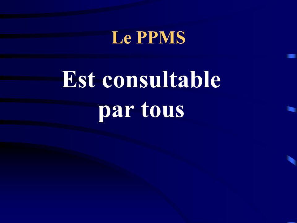 Le PPMS Est consultable par tous