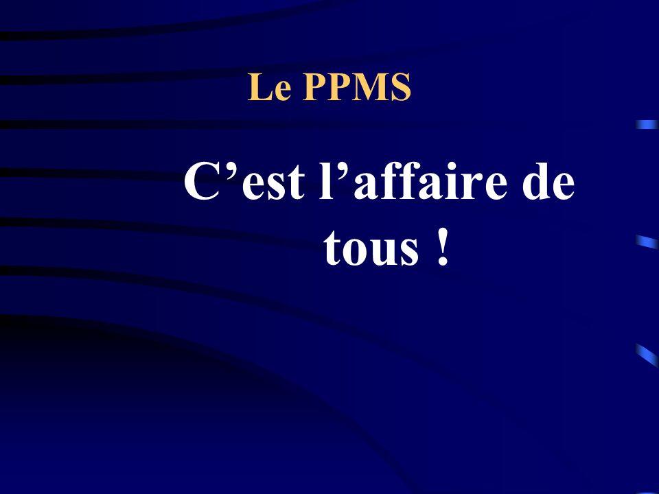 Le PPMS Cest laffaire de tous !