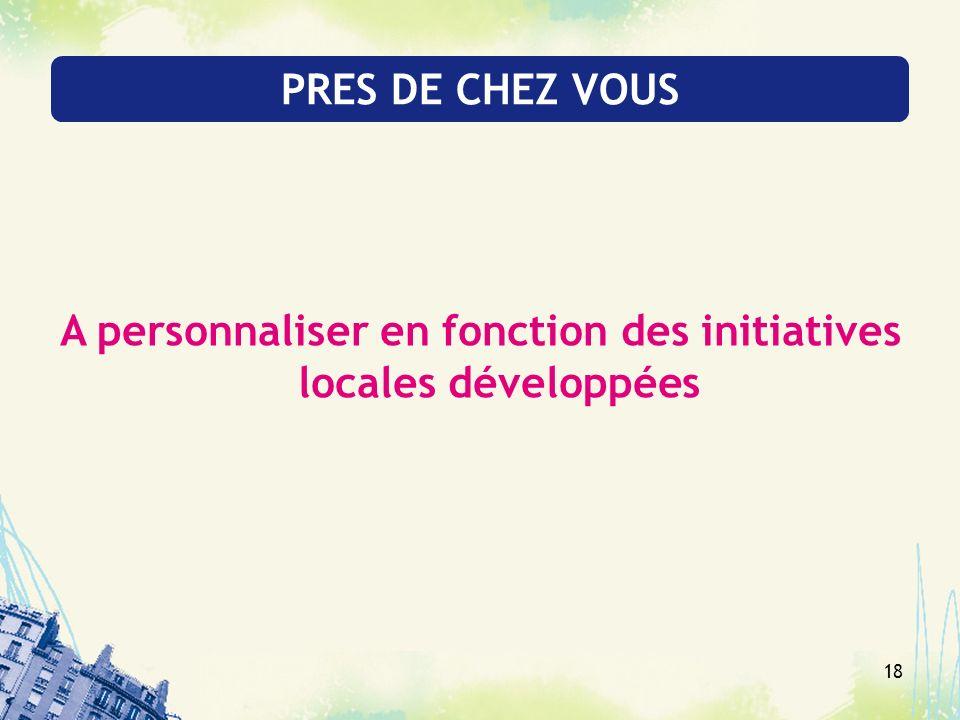 18 PRES DE CHEZ VOUS A personnaliser en fonction des initiatives locales développées