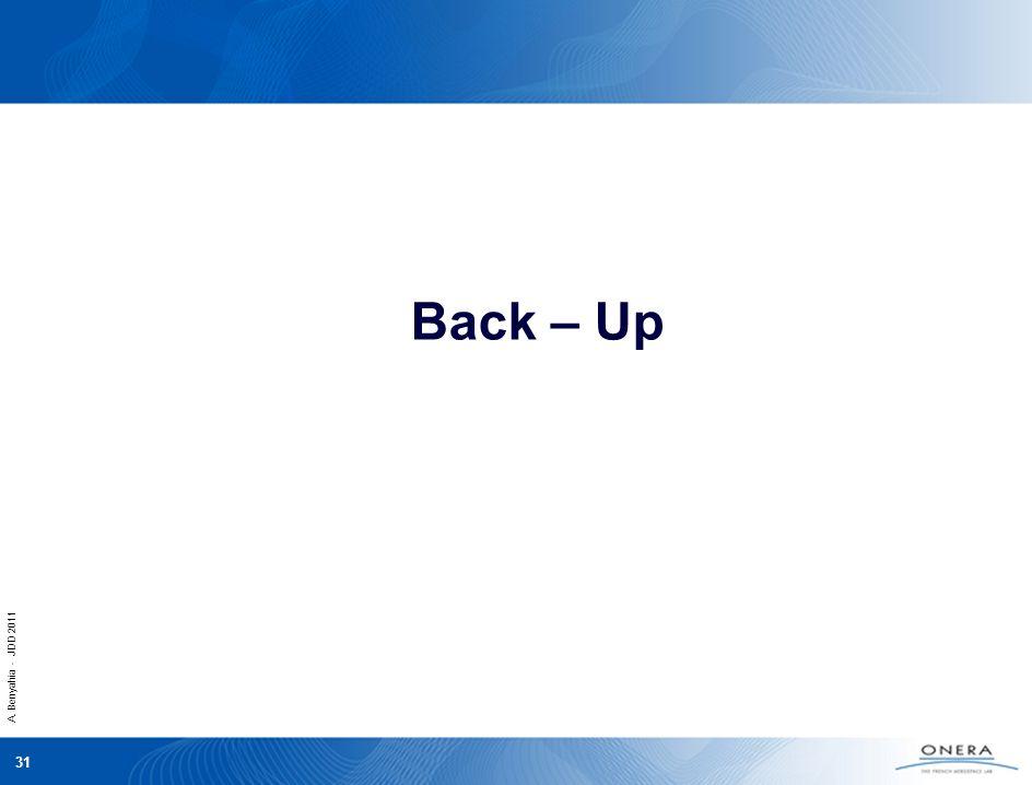 A. Benyahia - JDD 2011 31 Back – Up