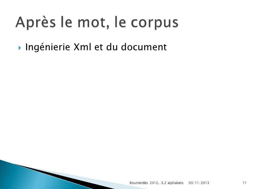 Ingénierie Xml et du document 03/11/2013Boumerdès 2012, 3.2 alphabets11