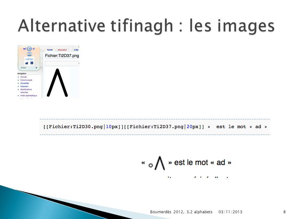 03/11/2013Boumerdès 2012, 3.2 alphabets8