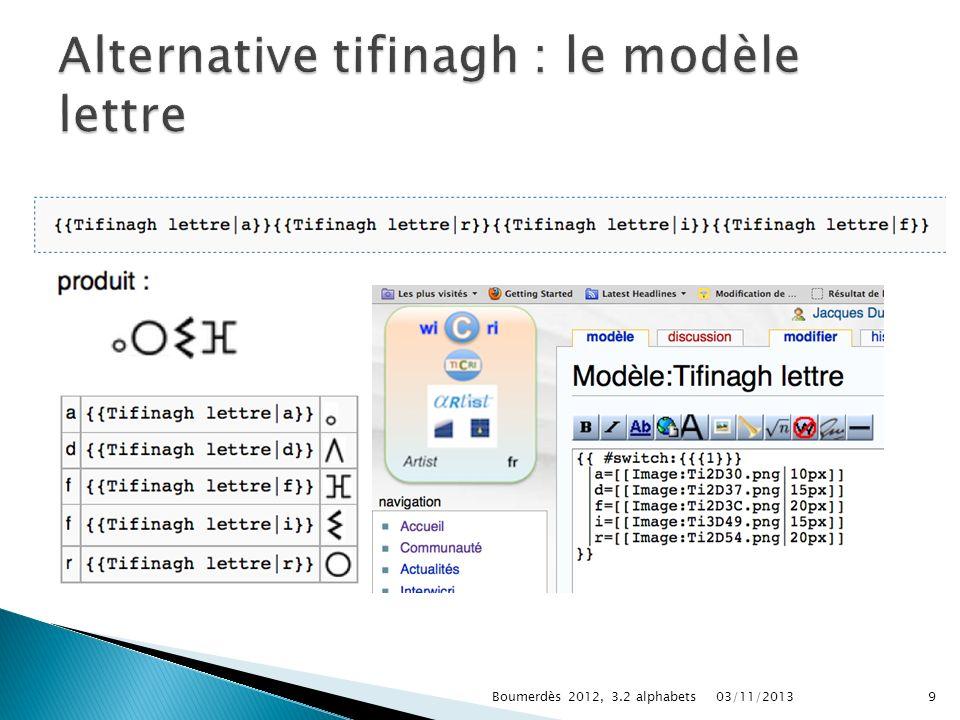 03/11/2013Boumerdès 2012, 3.2 alphabets9