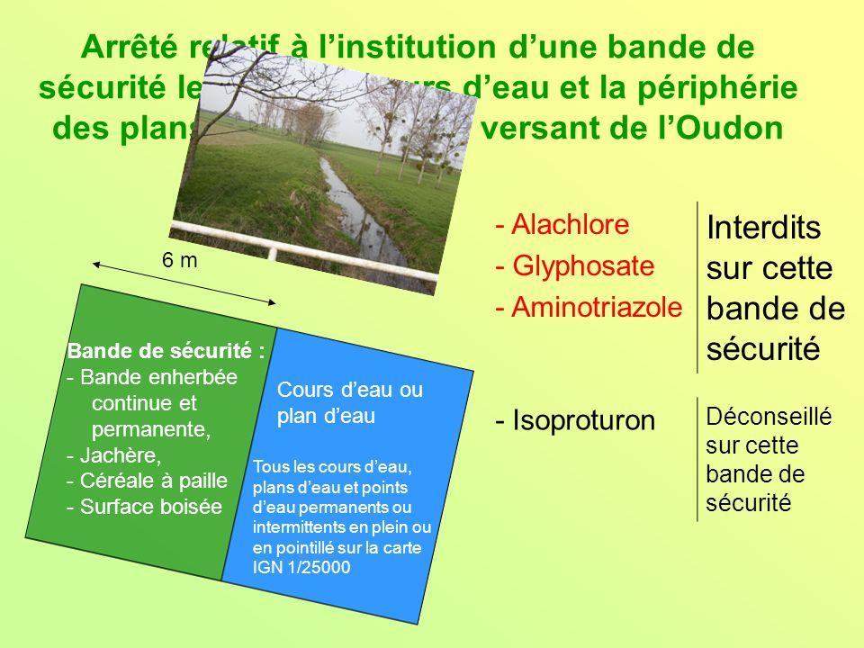 Arrêté relatif à linstitution dune bande de sécurité le long des cours deau et la périphérie des plans deau du bassin versant de lOudon Bande de sécur