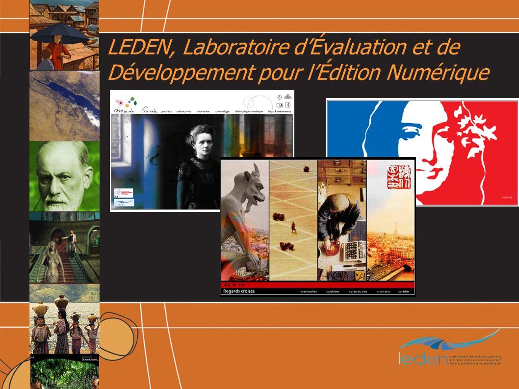 LEDEN, Laboratoire dÉvaluation et de Développement pour lÉdition Numérique