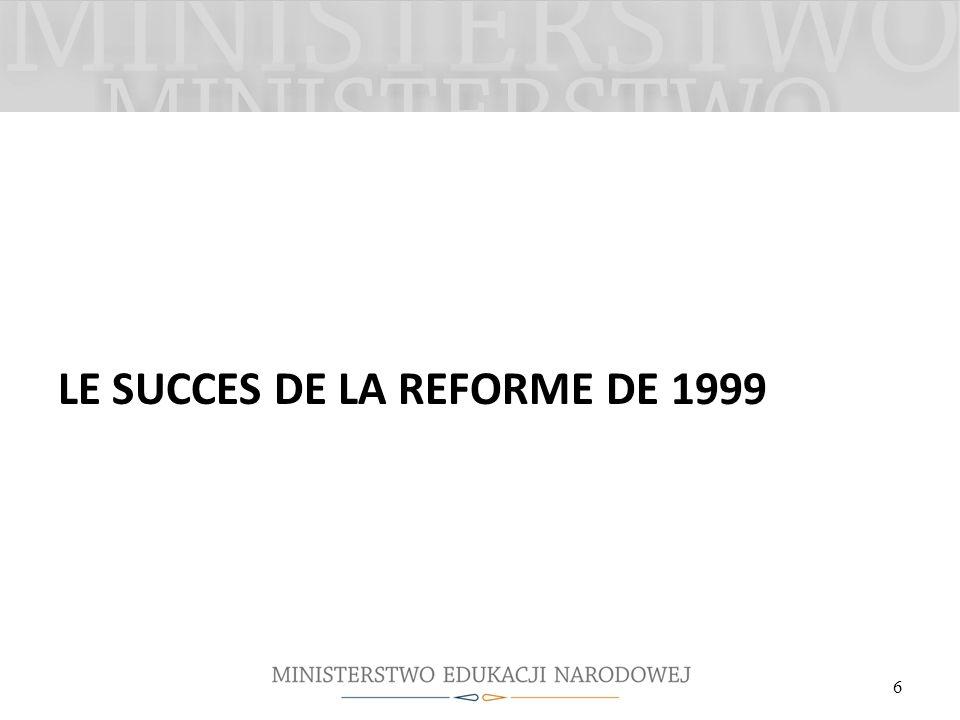 LE SUCCES DE LA REFORME DE 1999 6