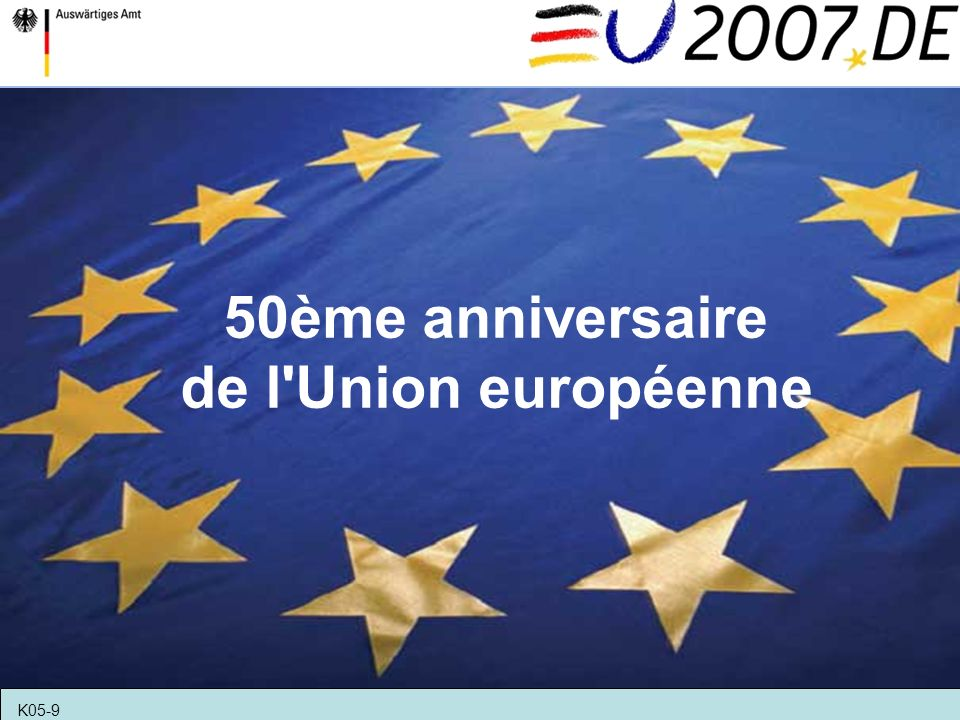 50ème anniversaire de l'Union européenne K05-9
