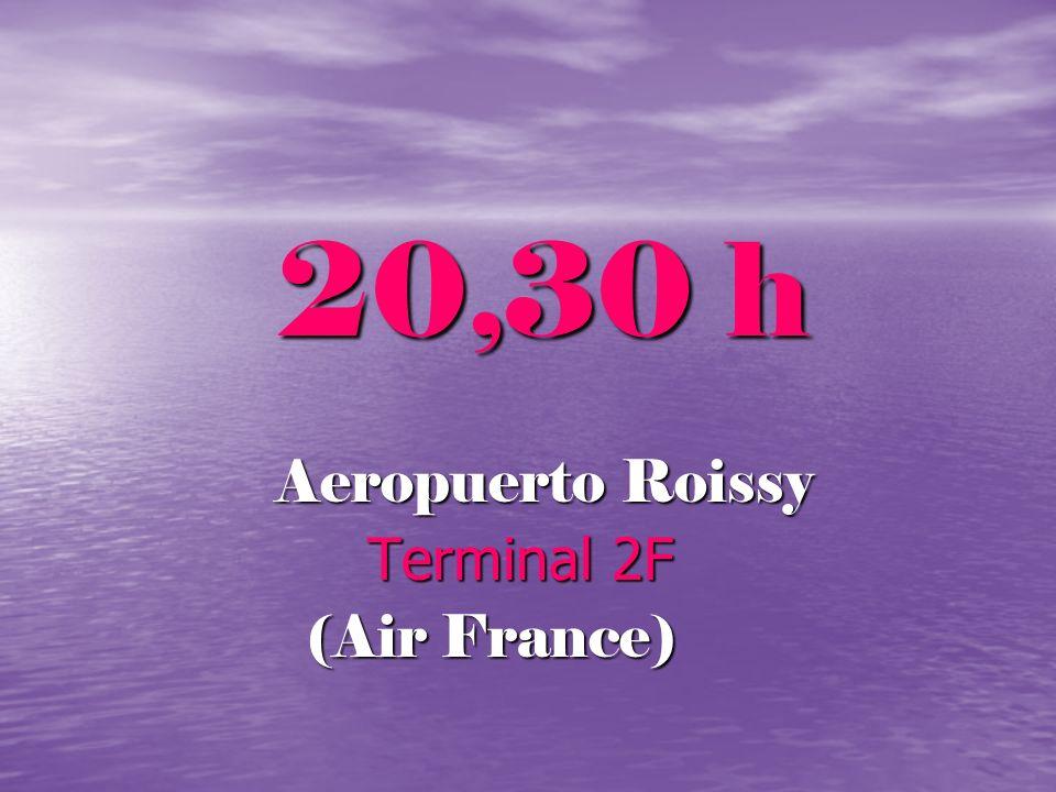 20,30 h Aeropuerto Roissy Terminal 2F Terminal 2F (Air France) (Air France)
