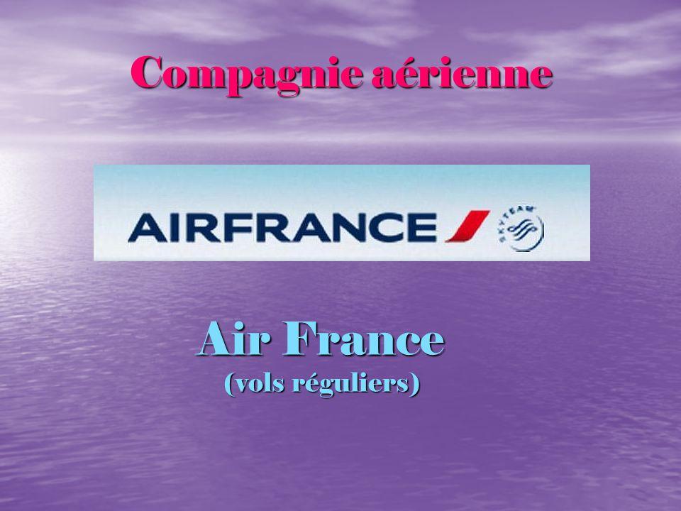 Compagnie aérienne Air France (vols réguliers)