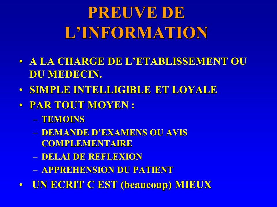 Linformation des patients Article 35 du Code de déontologie médicale :Article 35 du Code de déontologie médicale : –« Le médecin doit à la personne qu