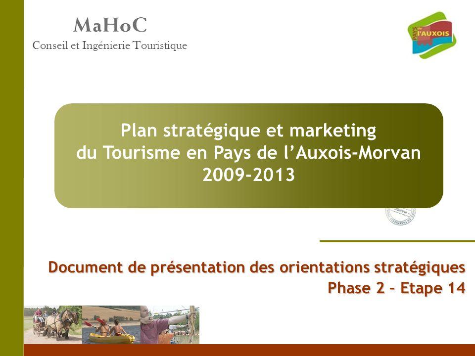 Document de présentation des orientations stratégiques Phase 2 – Etape 14 Conseil et Ingénierie Touristique Plan stratégique et marketing du Tourisme