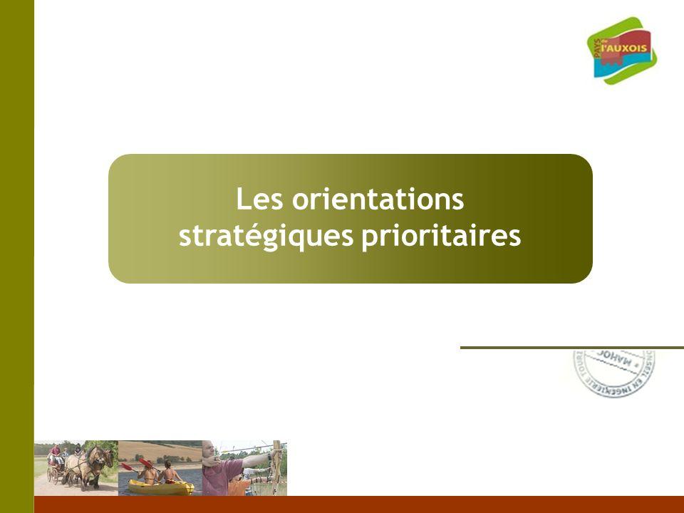Les orientations stratégiques prioritaires