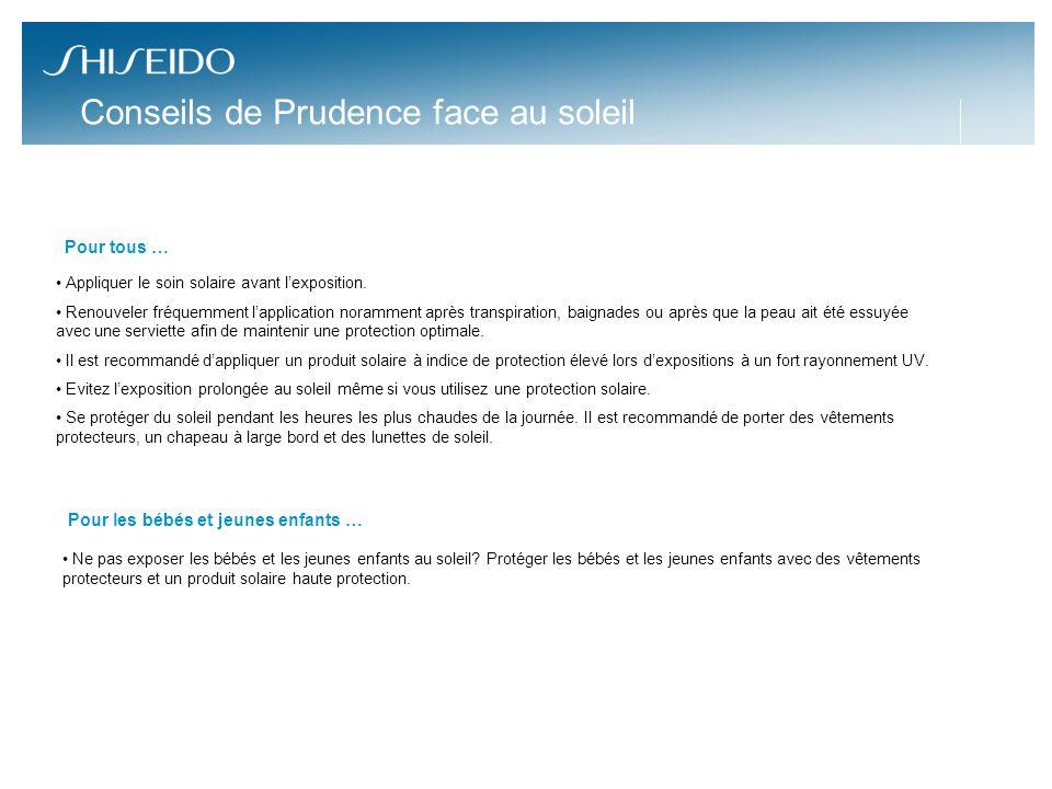 8 Pour vos lecteurs… En ce moment sur la Page Facebook de Shiseido France, une routine solaire complète par jour à gagner: Protection SPF30 et SPF50, après-solaires, maquillage.