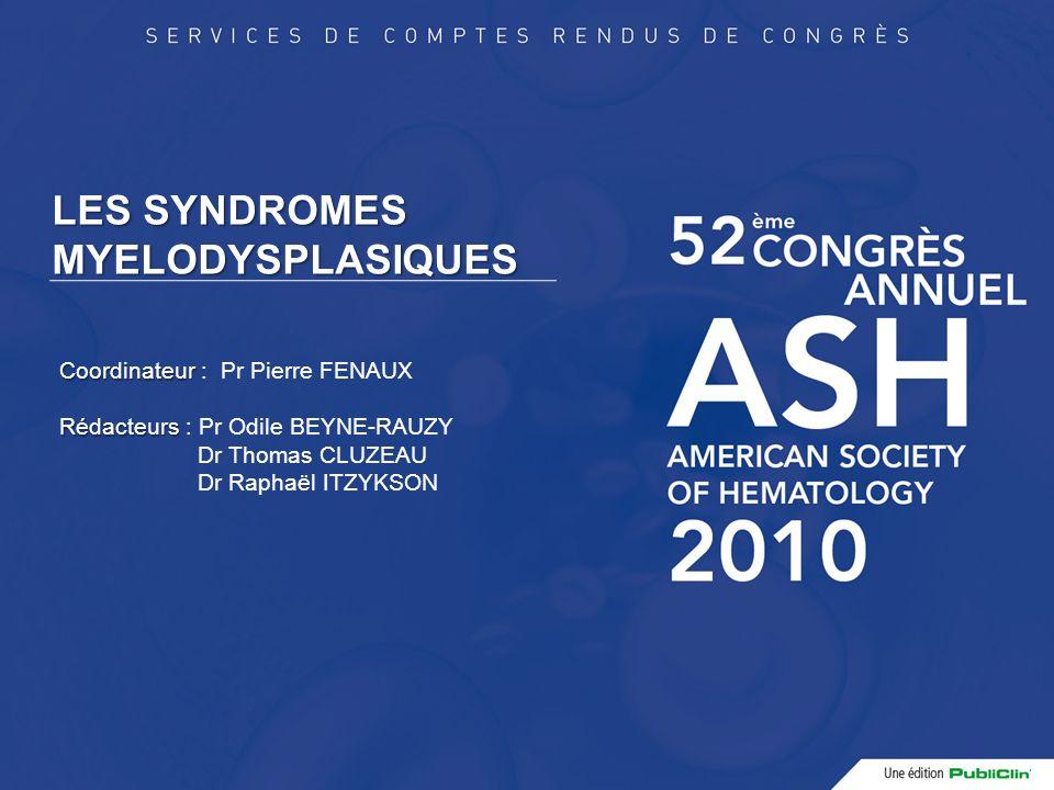Facteurs péjoratifs de survie globale au cours du traitement par ASE HR 95% CI p Résistance primaire 3,2 1,7-6 0,0001 Rechute <12 mois 3,2 1,2-8,3 0,01 Age >75 ans 2,7 1,6-4,6 0,0001 C.