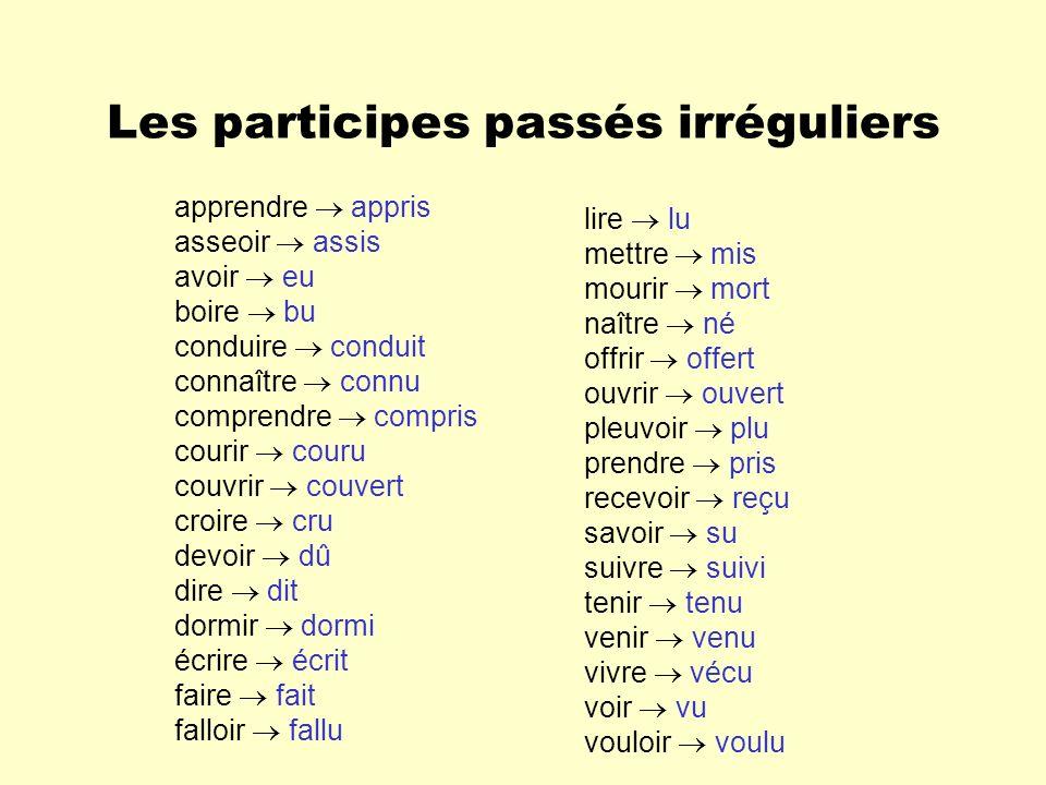 Lauxiliaire AVOIR Au passé composé, la majorité des verbes sont conjugués avec lauxiliaire avoir.