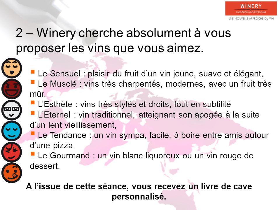 2 – Winery cherche absolument à vous proposer les vins que vous aimez.
