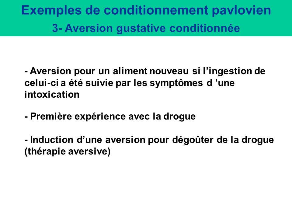 Exemples de conditionnement pavlovien 2- Préférence de place conditionnée Rimonabant antagonises Nicotine (0.06 mg/kg, sc)- induced Conditioned Place