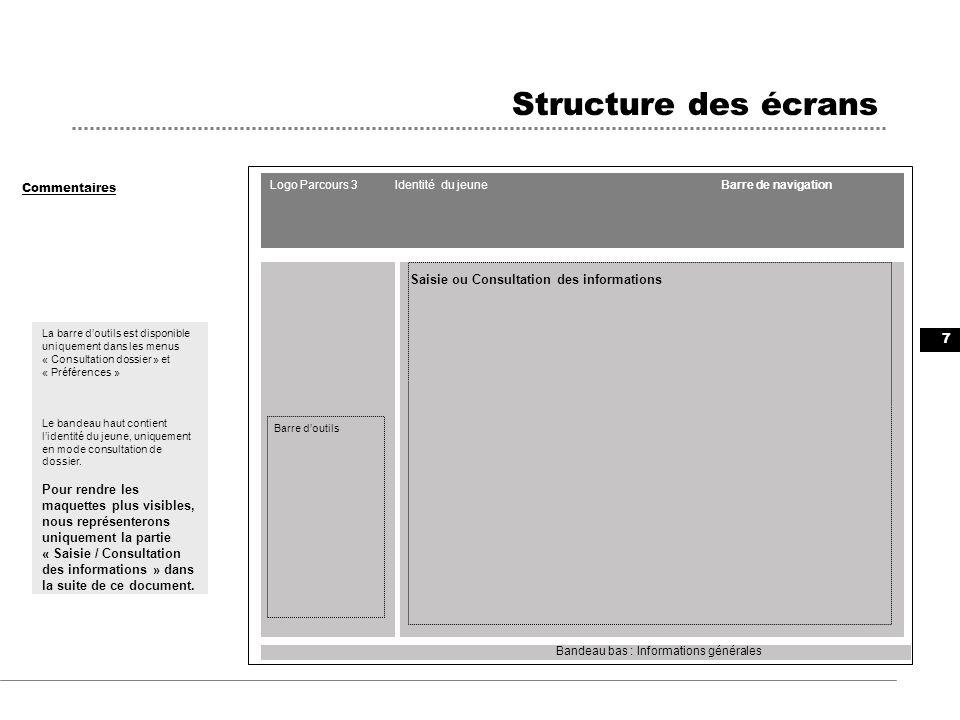 18 Maquettes des écrans Commentaires Situation « Contrat en alternance » après sélection dune formation Permet la suppression de la formation sélectionnée : les champs réinitialisés sont : -lorganisme -- lintitulé Certaines informations sont mises à jour automatiquement suite à une sélection dune formation CARIF : -Lorganisme -- Lintititulé -- La date de début -- La date de fin prévisionnelle -- Le NSF -- Le Formacode -- Le ROME -- Le niveau Le principe de remplissage automatique des informations avec les informations dune formation « CARIF » est reproduit pour les situations et les MER « Formation ».