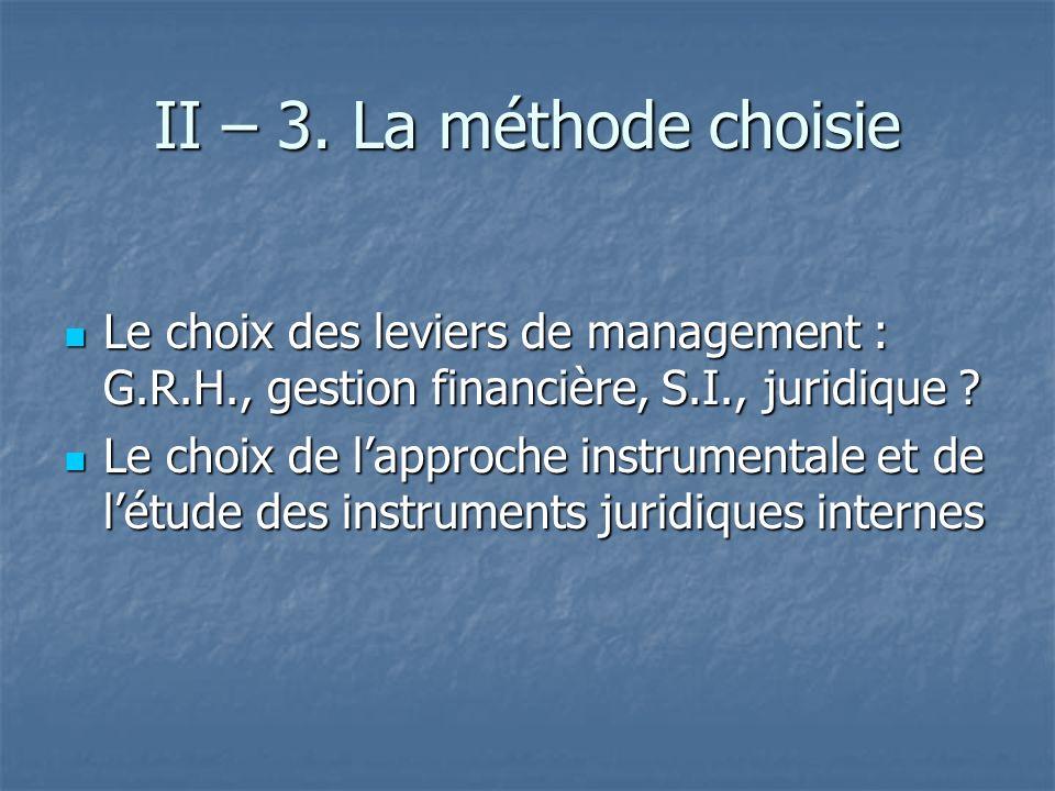 II – 4.Létude des instruments juridiques internes 4.1.