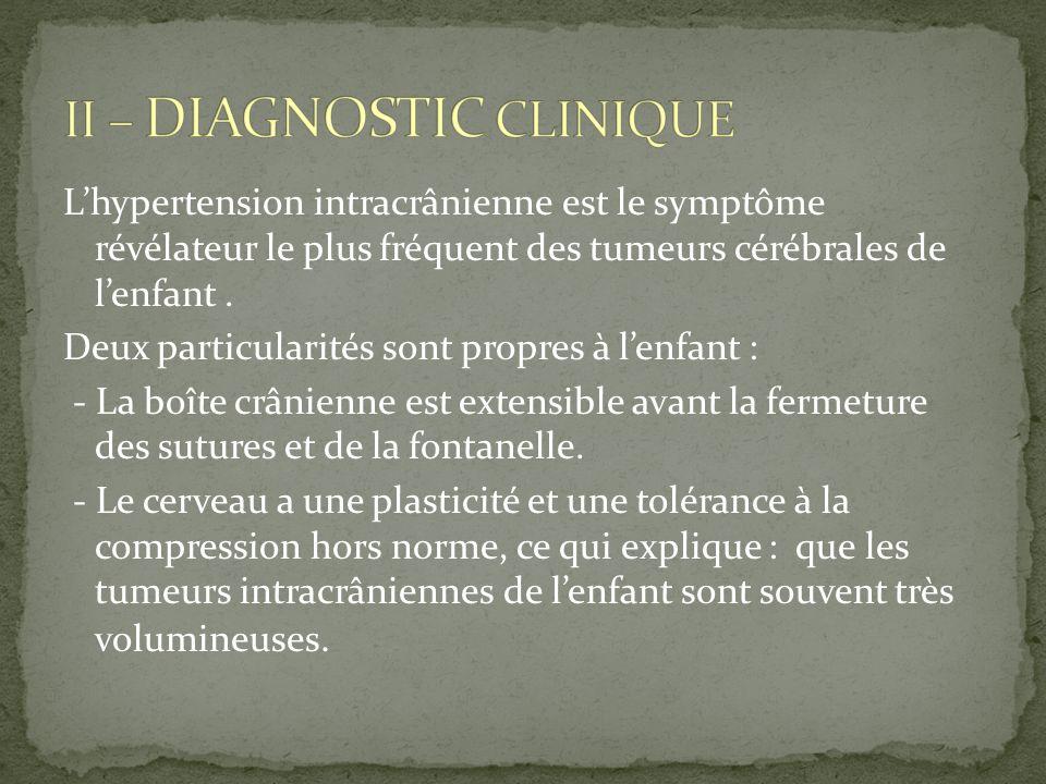 Les tumeurs cérébrales chez lenfant sont à lorigine dune morbidité et dun handicap majeur (épilepsie,retard psychomoteur).