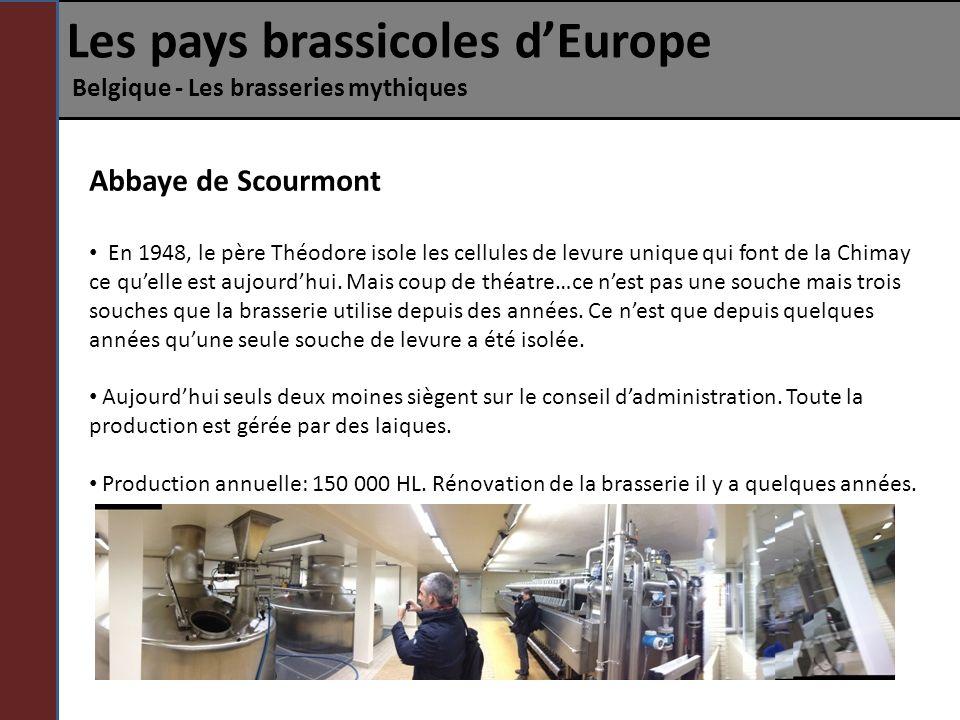 Les pays brassicoles dEurope Belgique - Les brasseries mythiques Abbaye de Scourmont En 1948, le père Théodore isole les cellules de levure unique qui
