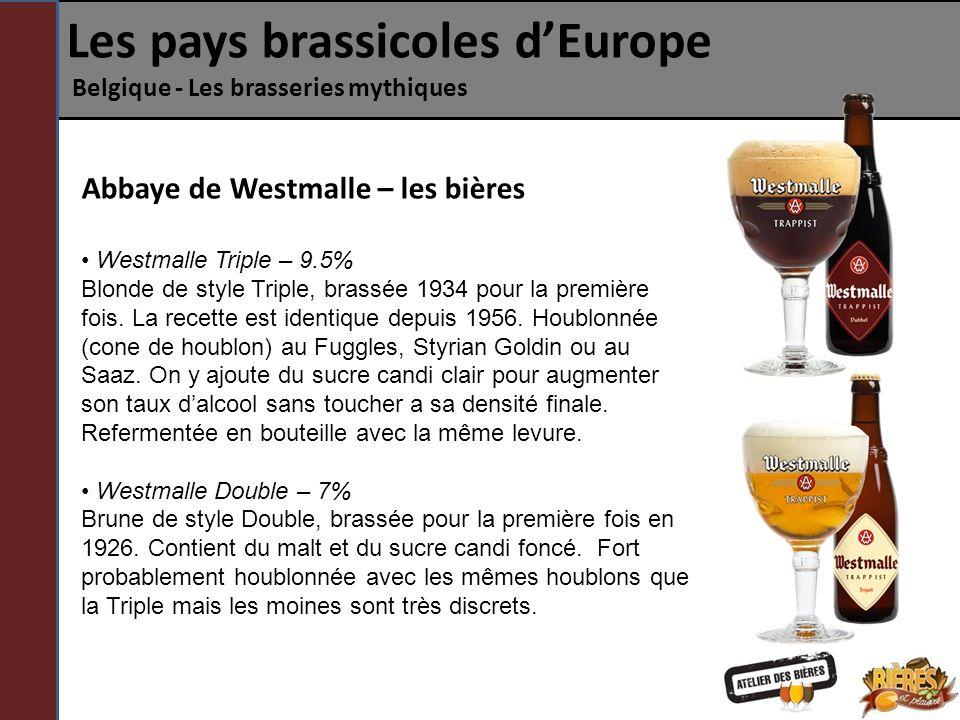 Les pays brassicoles dEurope Belgique - Les brasseries mythiques Abbaye de Westmalle – les bières Westmalle Triple – 9.5% Blonde de style Triple, bras