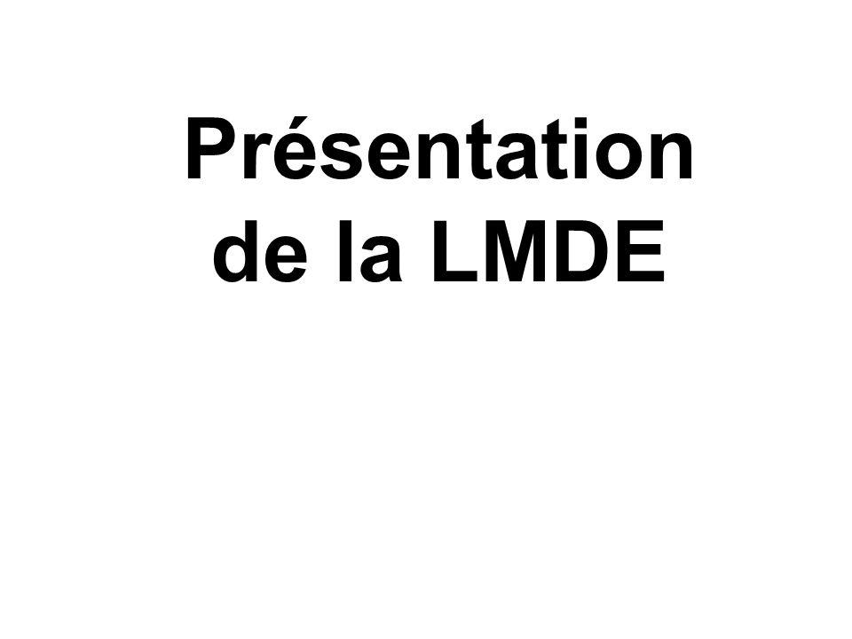 Présentation de la LMDE