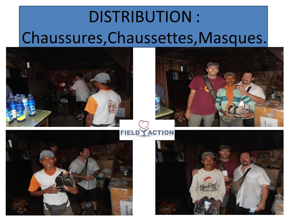 DISTRIBUTION : Chaussures,Chaussettes,Masques.