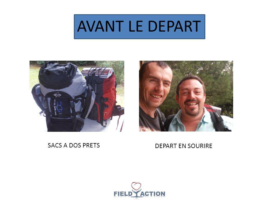 AVANT LE DEPART SACS A DOS PRETS DEPART EN SOURIRE