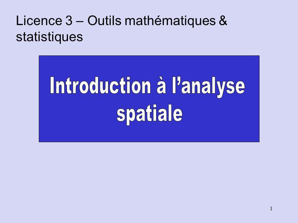 Faiblesses de lanalyse Quadrat Les résultats peuvent dépendre la taille et de lorientation des quadrats.