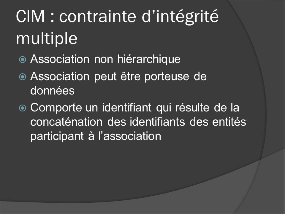 CIM : contrainte dintégrité multiple CIM