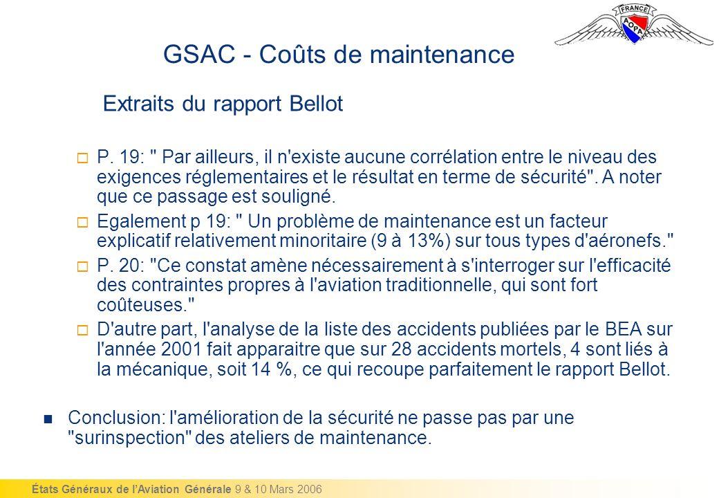 États Généraux de lAviation Générale 9 & 10 Mars 2006 P.
