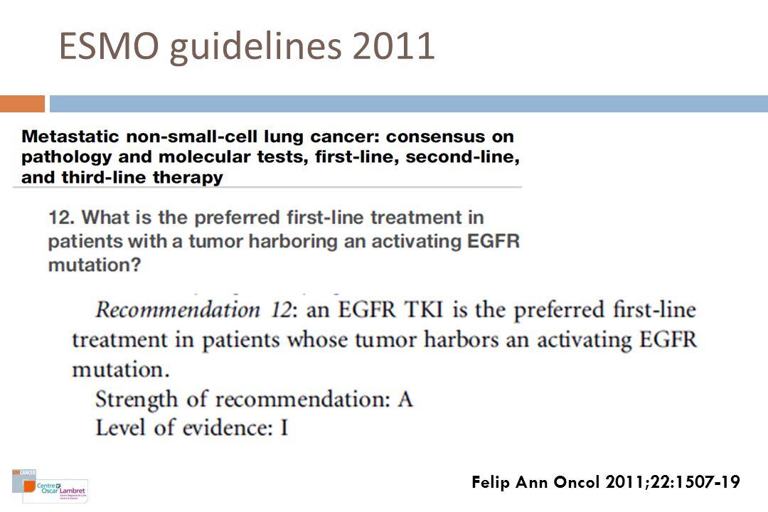 ESMO guidelines 2011 Felip Ann Oncol 2011;22:1507-19