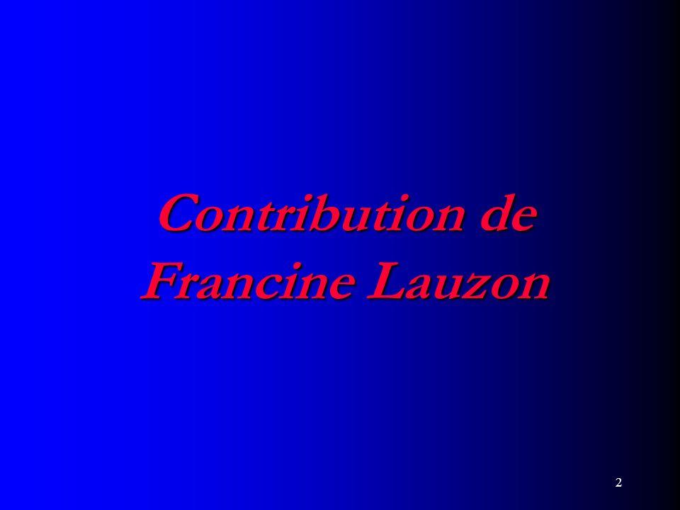 2 Contribution de Francine Lauzon