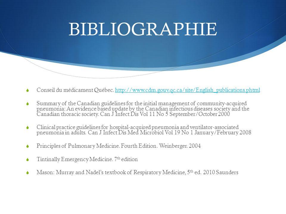 BIBLIOGRAPHIE Conseil du médicament Québec. http://www.cdm.gouv.qc.ca/site/English_publications.phtmlhttp://www.cdm.gouv.qc.ca/site/English_publicatio