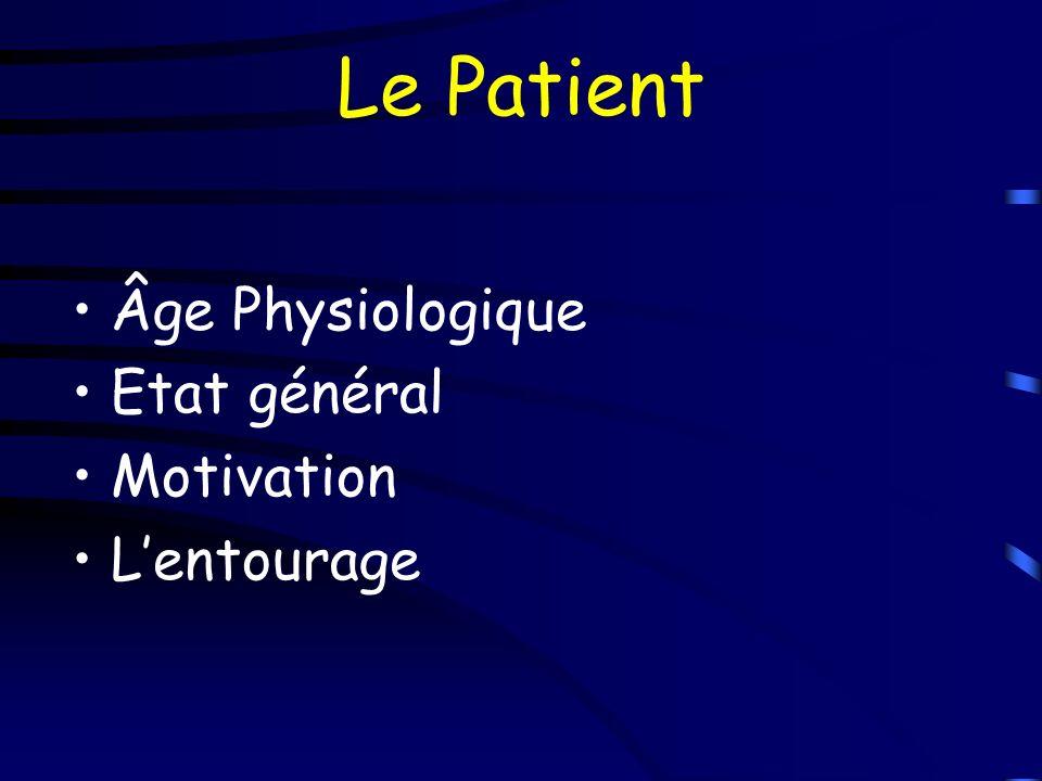 Risques + importants quen 1ere intention Tolérance médicale à une intervention plus longue Risques cicatriciels Risques en rapport avec la complexité du geste (Neuro, Vascu…) Consultation Pré-Anesthésique +++