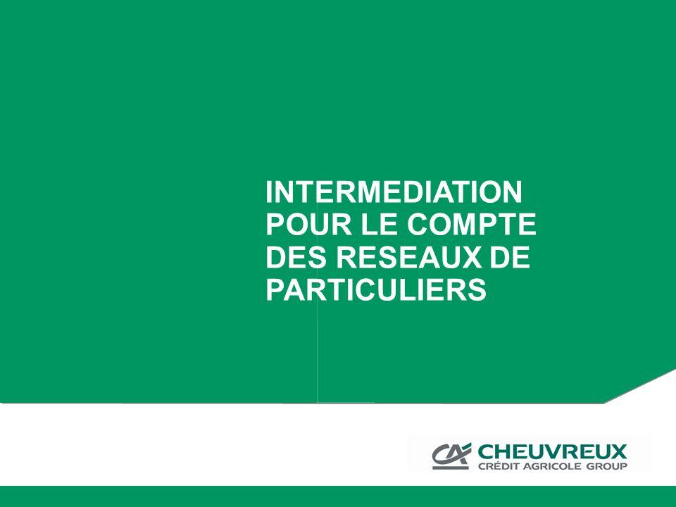 INTERMEDIATION POUR LE COMPTE DES RESEAUX DE PARTICULIERS