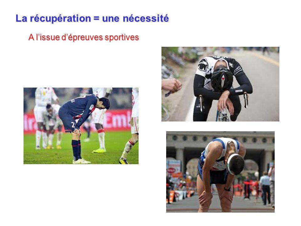 La récupération = une nécessité A lissue dépreuves sportives